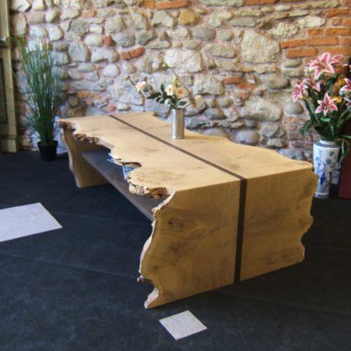 L'Atelier du Cornillon : table basse chene ronceux