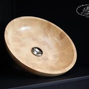 Vasque de bois de bout ronde