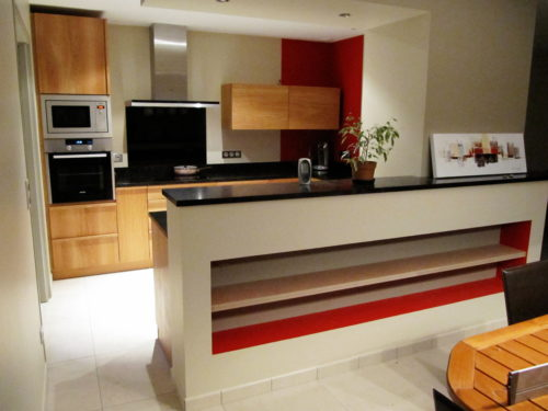 Atelier Brenier Créations : cuisine chêne huilé