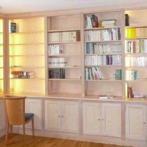 Bibliothèque en frêne