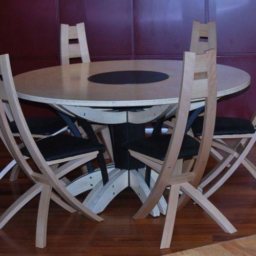 Atelier de l'Ébène : Table et chaise