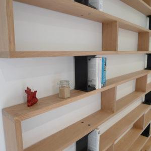 Bibliothèque bois et acier