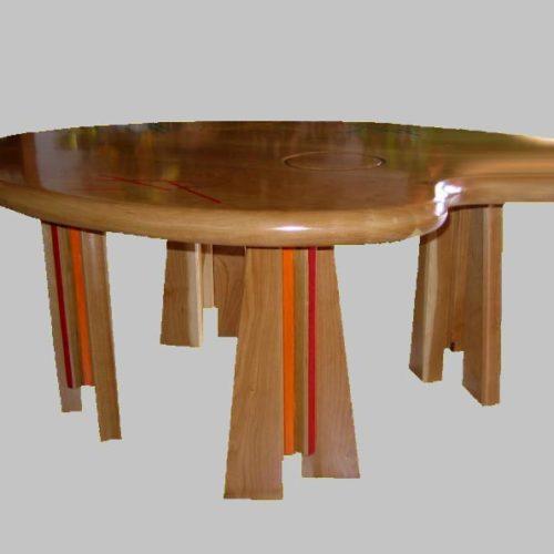 PELEGRIN Daniel : TABLE BASSE MERISIER