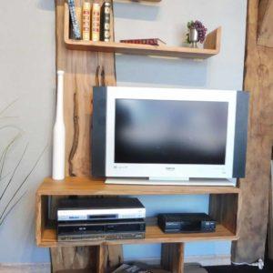 meuble TV en pommier