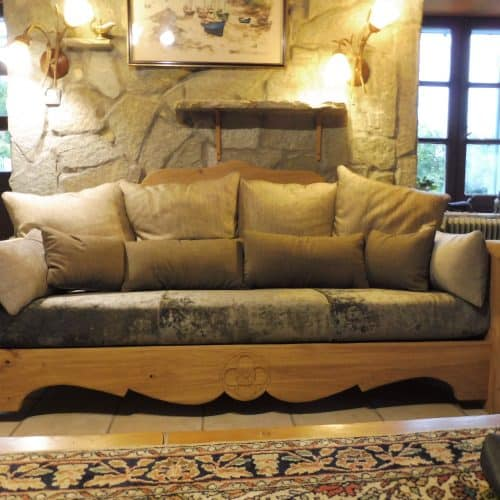 L'Atelier du Cornillon : banquette 3 places confort