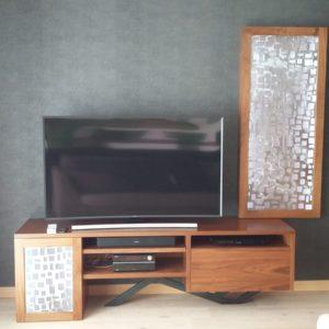 Meuble TV HIFI en noyer