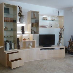 Meuble salon -bureau -vitrines