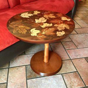Table d'appoint feuilles d'automne